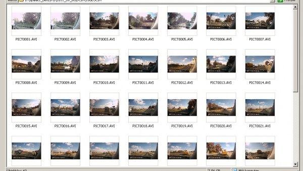 Katalog z plikami video z nagraniami rejestratorem trasy
