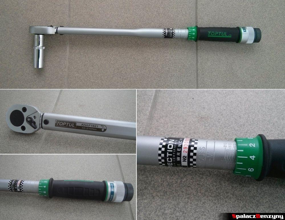 Klucz dynamometryczny TopTul 40-210 Nm
