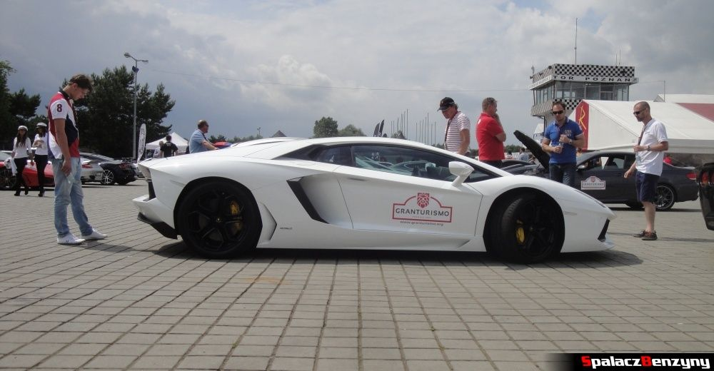 Lamborghini Aventador na torze w Poznaniu na Gran Turismo Polonia 2013