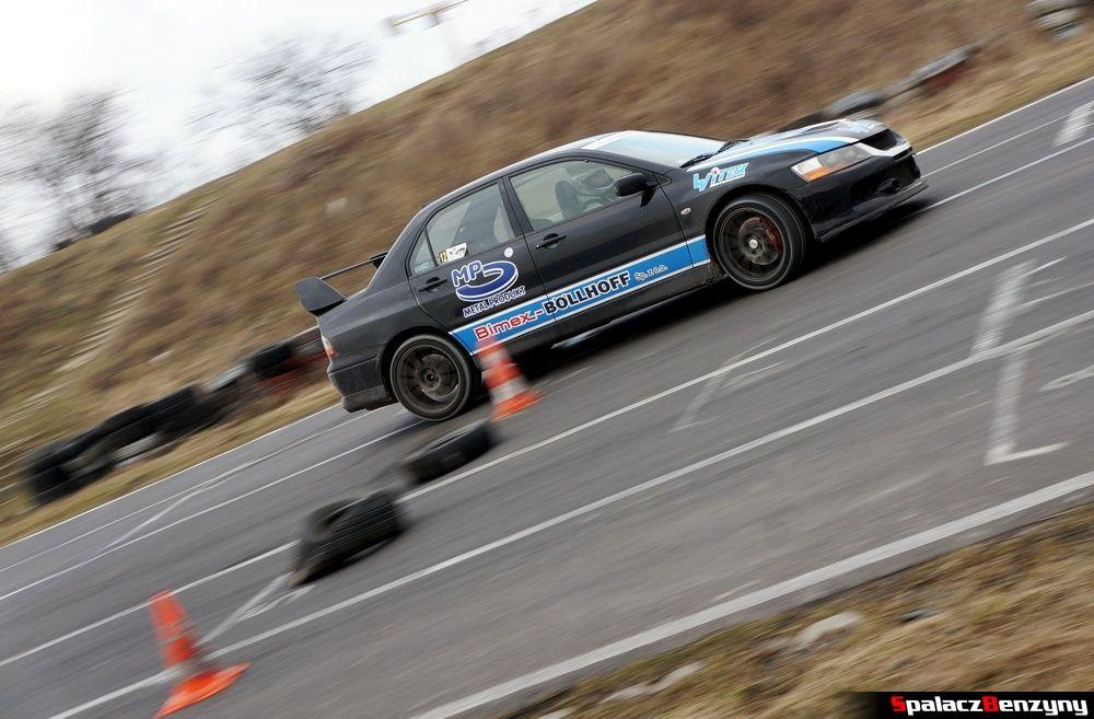 Lancer Evo czarny na RS Kulig 2014 Tor Lublin