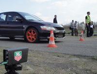 Lancer Evo na starcie RS Kulka