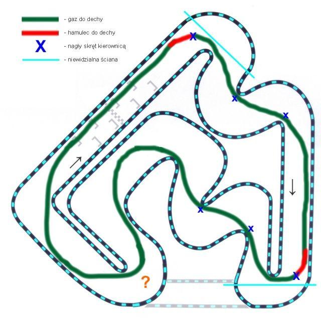 Linia jazdy po torze Grand Prix w Warszawie
