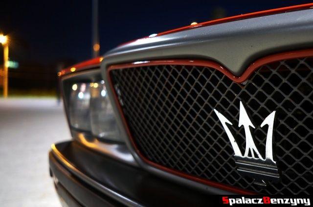 Logo Maserati na Lubelskie Klasyki Noc� maj 2014
