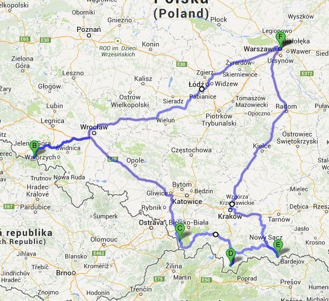 Mapa Blogerski przegląd stoków narciarskich z Audi