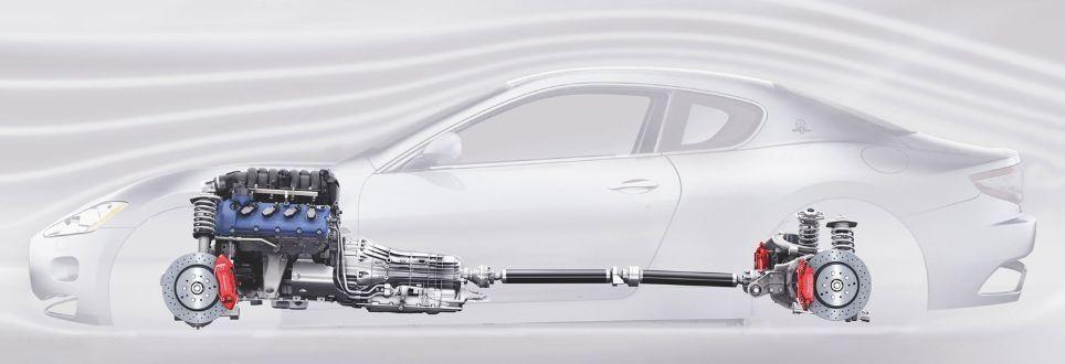 Maserati GranTurismo położenie napędu