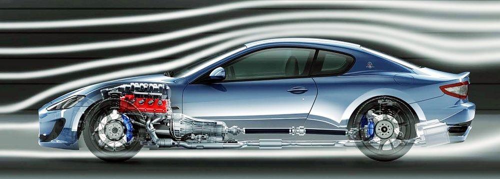 Maserati GranTurismo S położenie napędu i silnka