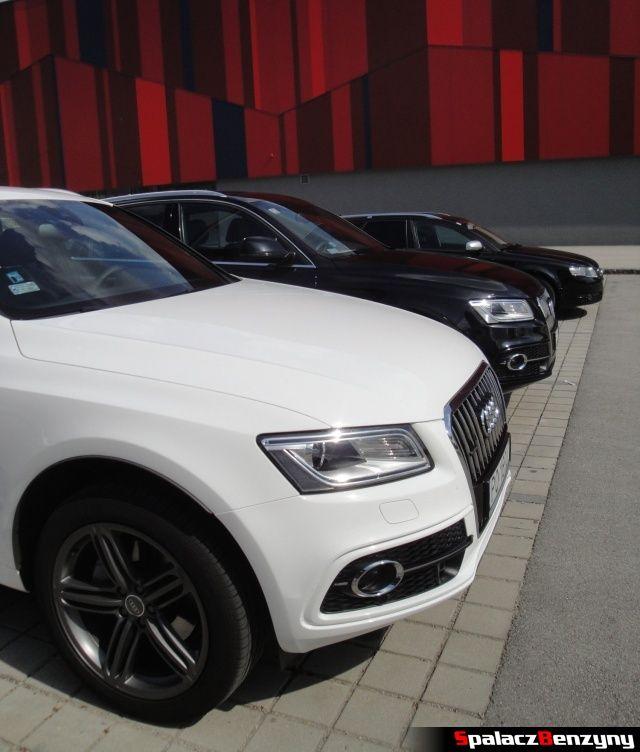 Maska Audi Q5 3.0 TFSI i Q5 2.0 TDI na parkingu hotelowym