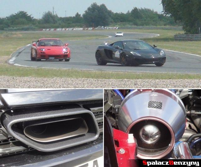 McLaren MP4-12C i Mazda RX7 FD na torze na Gran Turismo Polonia 2013