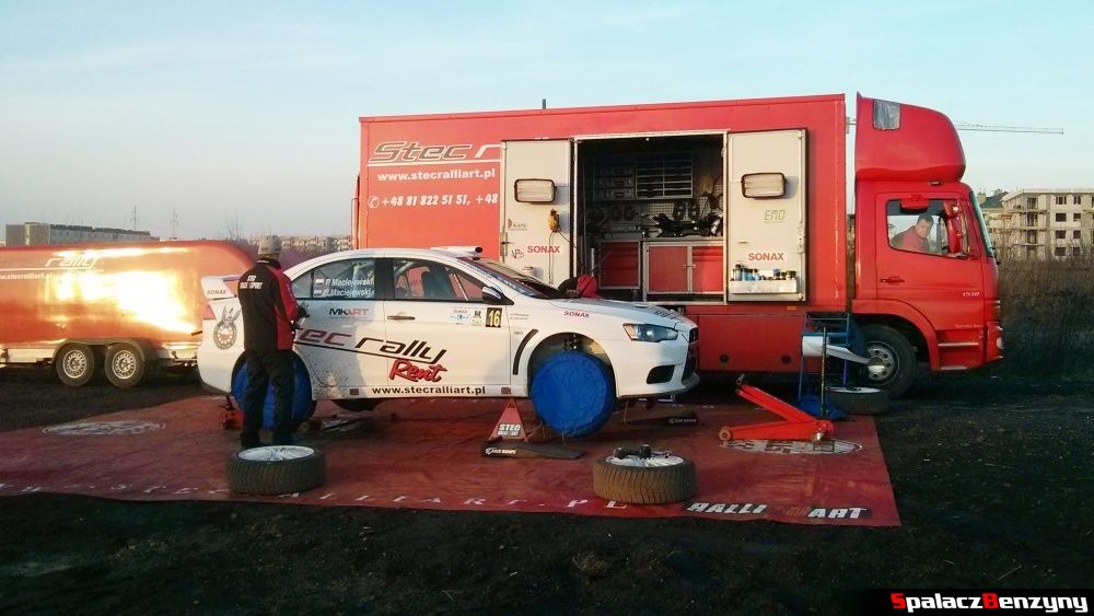 Mitsubishi Lancer Evo Stec Rally Art na Kryterium Asów 2013