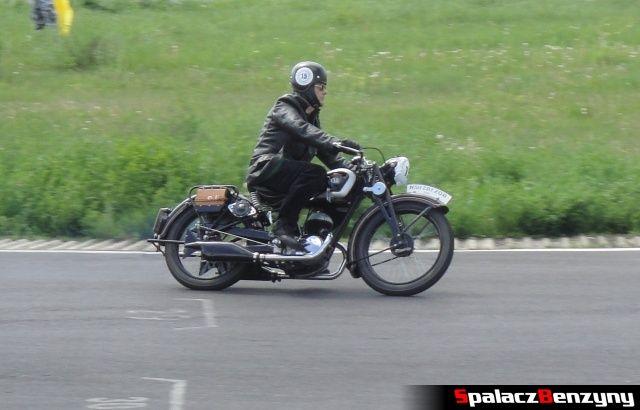 Motocykl NSU w czasie jazdy na Super Veteran 2012 w Lublinie