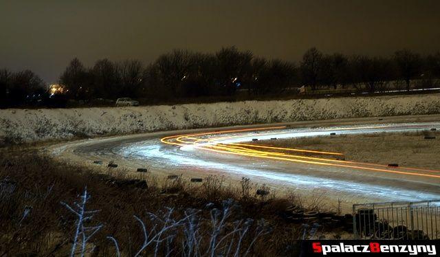 Nocna jazda na torze w Lublinie