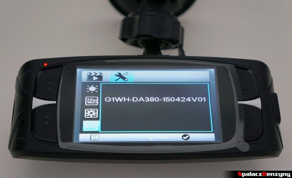 Numer seryjny oprogramowania G1WH rejestrator