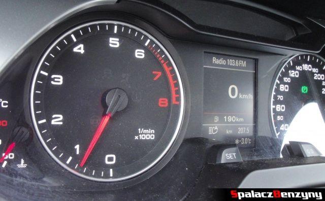 Obrotomierz w Audi A4 B8
