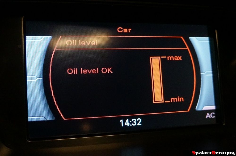 Oil level OK Audi A4 2.0 TFSI