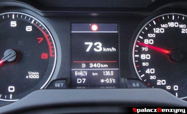 Ostrzeżenie o przekroczeniu prędkości w Audi A4 B8