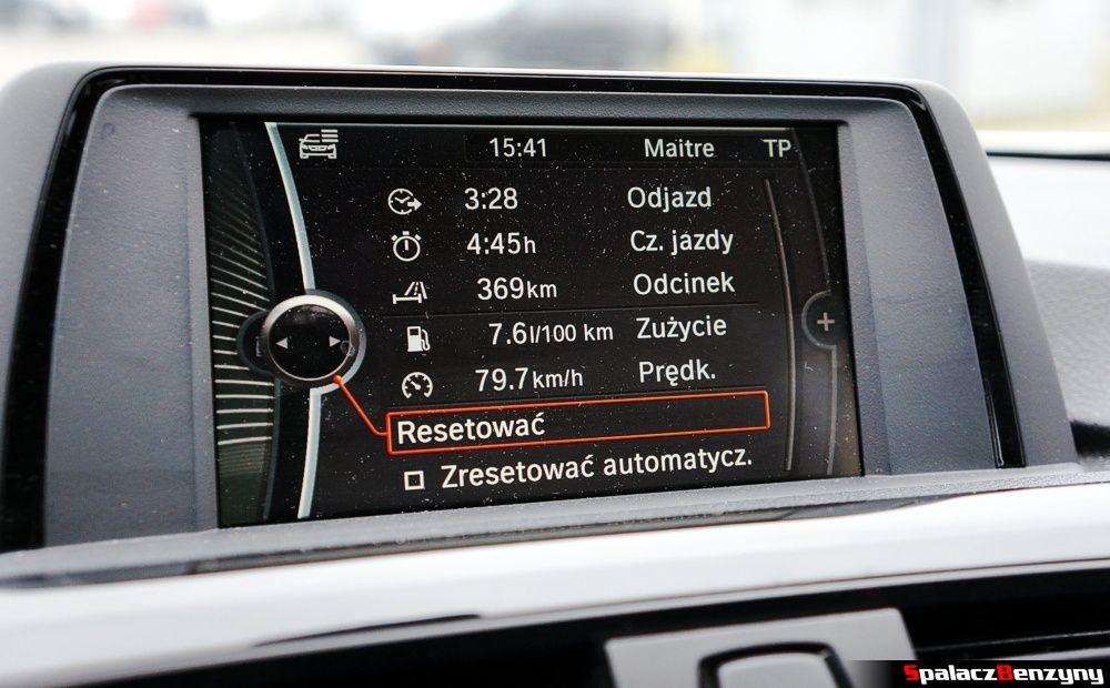 Parametry podróży BMW 316i 2013