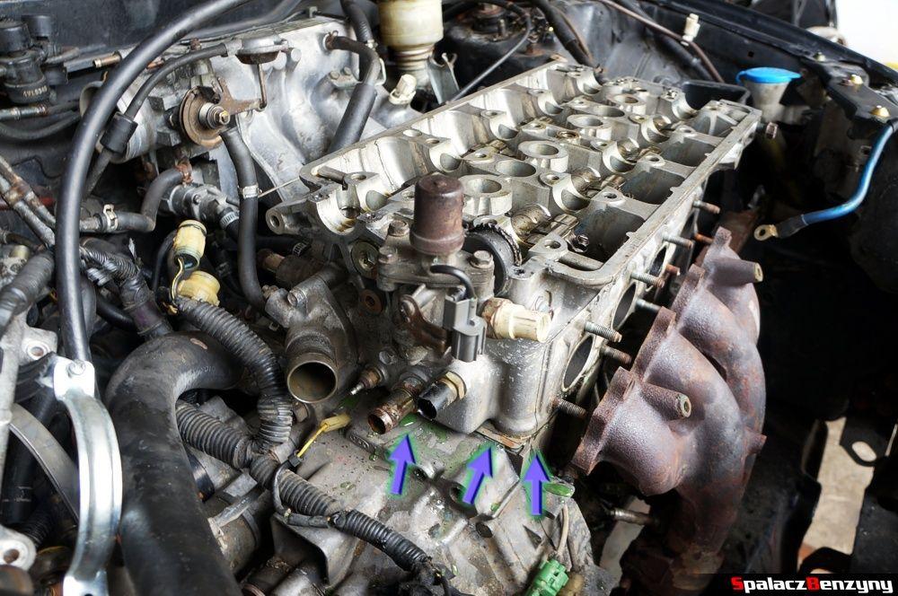 Podniesiona głowica silnika w Honda Civic