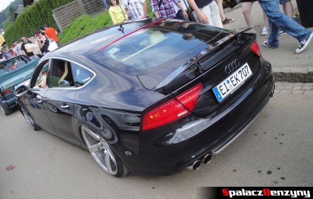 Podniesiony spojler Audi S7 czarne na Worthersee 2013
