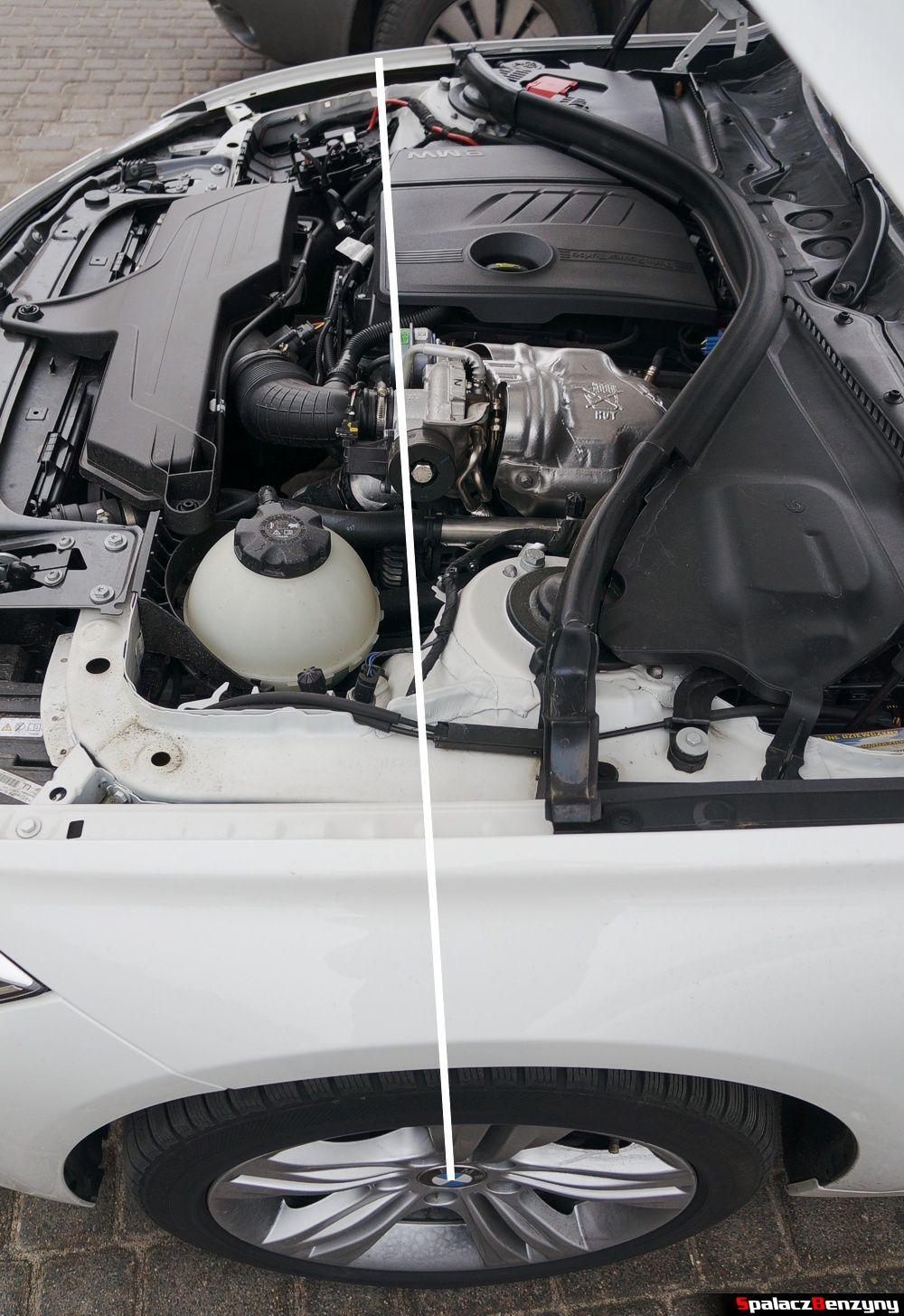 Położenie silnika BMW 316i 2013