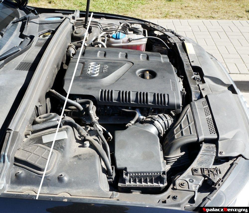 Położenie silnika w komorze Audi A4 B8