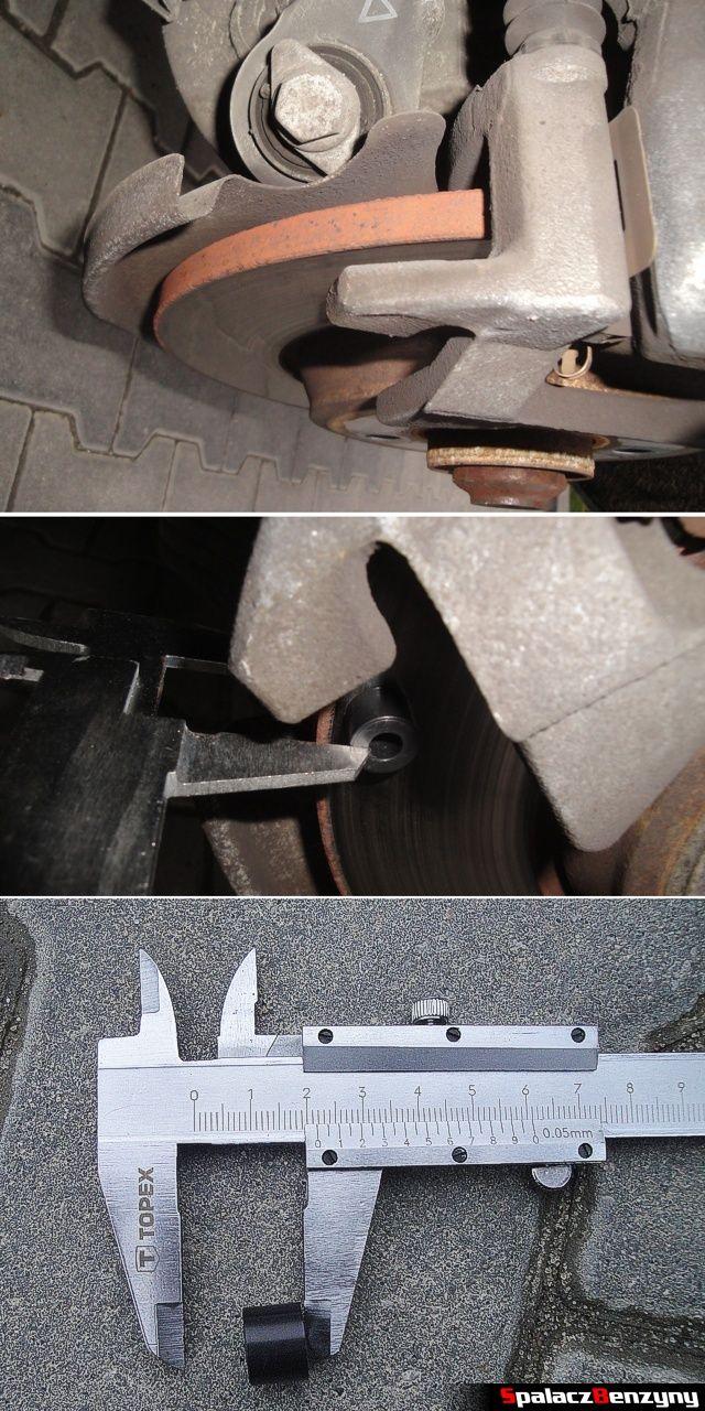 Pomiar grubości zużytej tarczy hamulcowej tylnej do Audi A4 B8