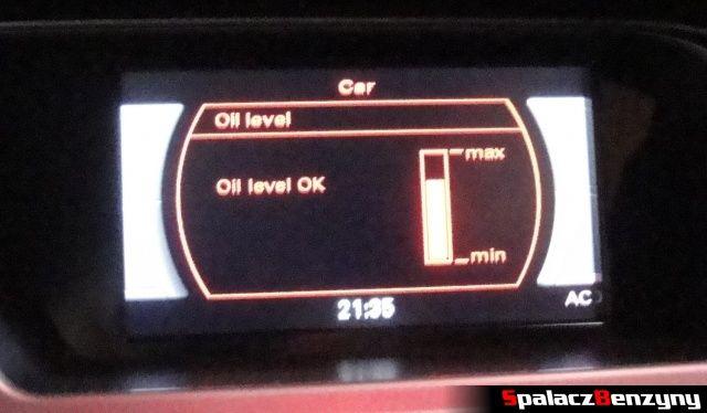 Pomiar oleju MMI 1000 km po Stage 1 na ciepło