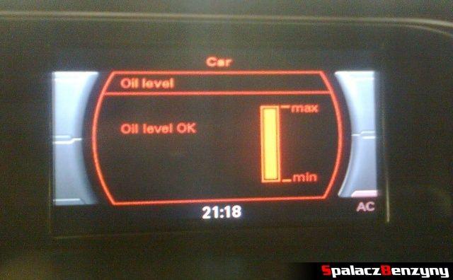 Pomiar oleju MMI 2000 km po Stage 1 po dolewce na ciepło