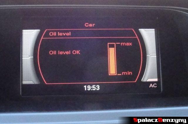 Pomiar oleju MMI 2000 km po Stage 1 przed dolewką 100 ml na ciepło