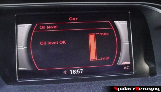 Pomiar oleju MMI 3000 km po Stage 1 po dolewce na ciepło