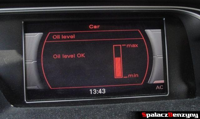 Pomiar oleju MMI 3000 km po Stage 1 przed dolewką na ciepło