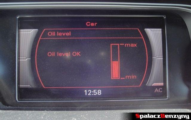 Pomiar oleju MMI 4000 km po Stage 1 przed dolewką na ciepło