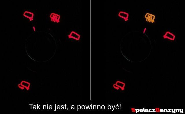 Prawidłowe sterowanie lusterek bocznych w nocy w Audi A4 B8