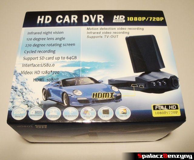 Rejestrator trasy HD CAR DVR 720p HDMI opakowanie 2