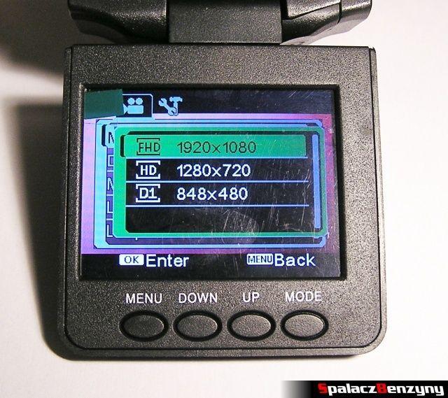 Rejestrator trasy HD CAR DVR 720p HDMI rozdzielczości nagrania