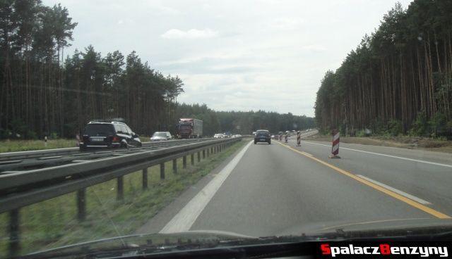 Remont na niemieckiej autostradzie