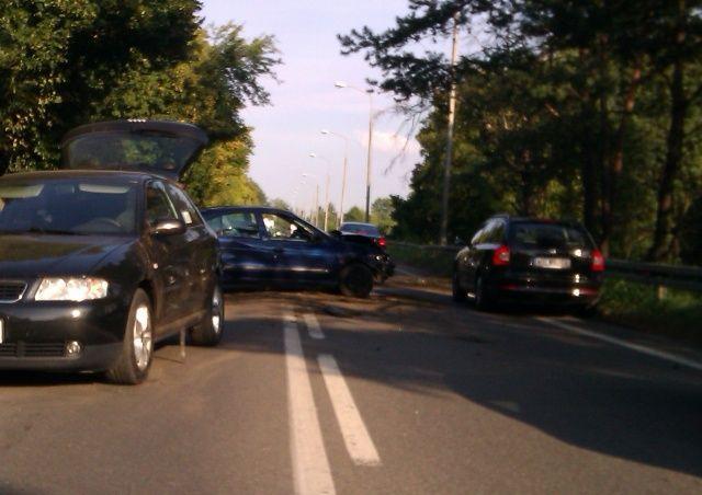 Renault Megane i Audi A3 po kolizji