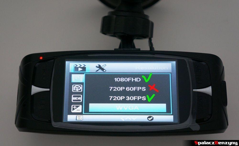 Rozdzielczość obrazu G1WH rejestrator