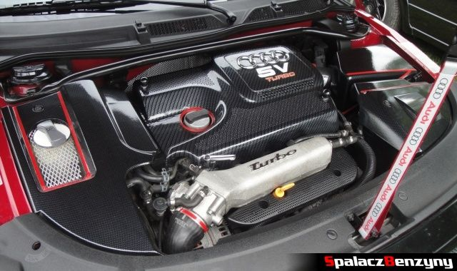 Silnik Audi TT czerwono czarne na Worthersee 2013