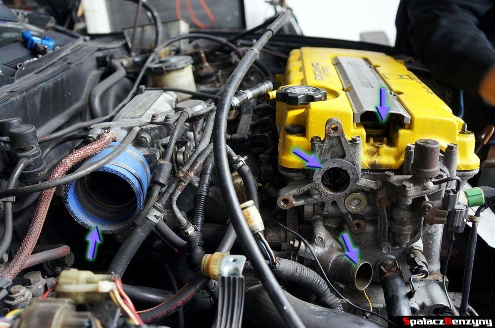 Silnik po odpięciu przewodów w Honda Civic
