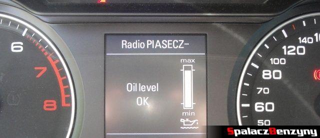 Skala między zegarami 1000 km po wymianie oleju na Millers 5w40