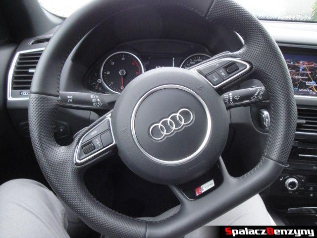 Skórzana kierownica s-line w Audi Q5
