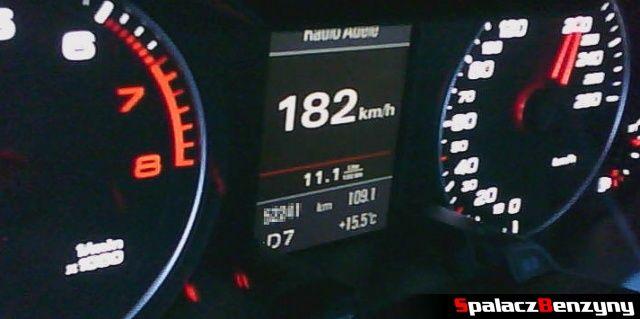 Spalanie benzyny 180 km h w 2.0 TFSI Audi quattro s-tronic