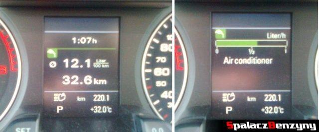 Spalanie benzyny w mieście w 2.0 TFSI Audi quattro s-tronic