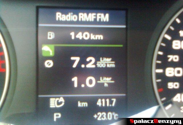 Spalanie benzyny w trasie w 2.0 TFSI Audi quattro s-tronic