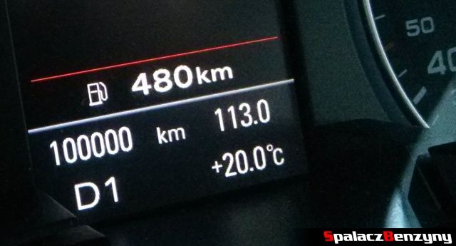 Stan licznika w samochodzie