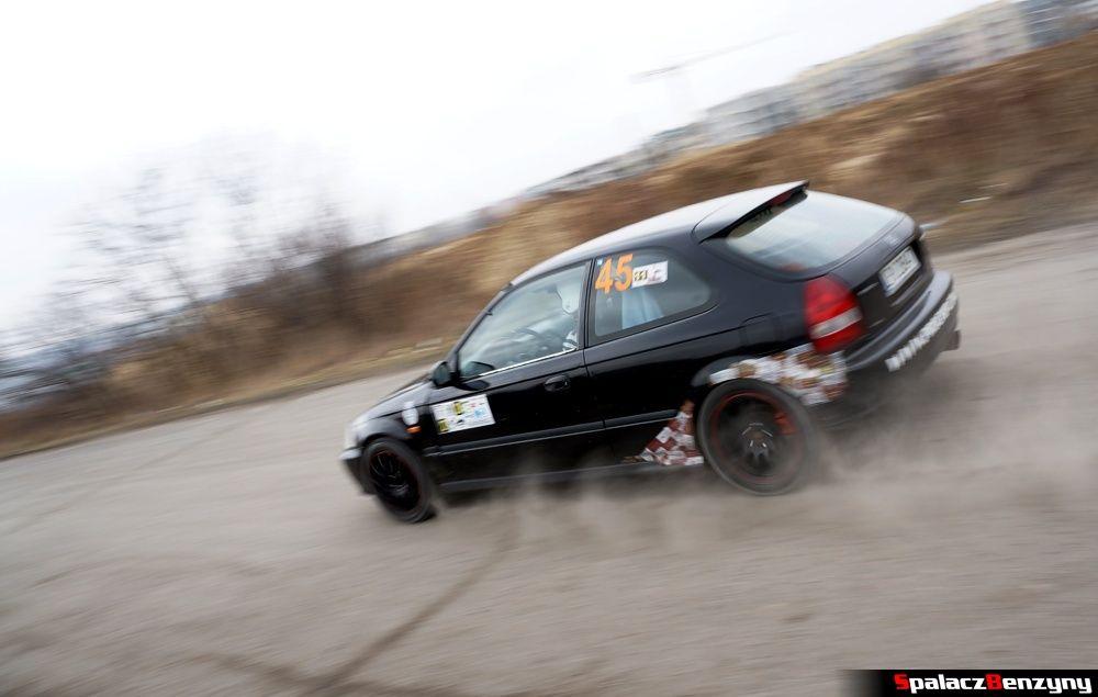 Start Honda Civic czarna na RS Kulig 2014 Tor Lublin
