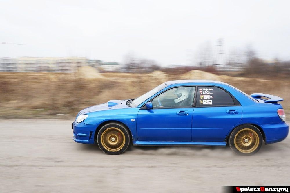 Start Subaru Impreza WRX niebieskie na RS Kulig 2014 Tor Lublin