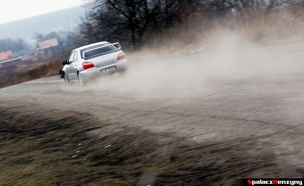 Start Subaru Impreza WRX srebrne na RS Kulig 2014 Tor Lublin