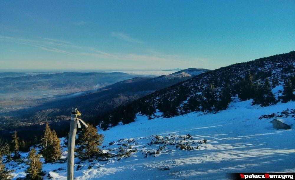 Start trasy narciarskiej na Kopie w Karpaczu
