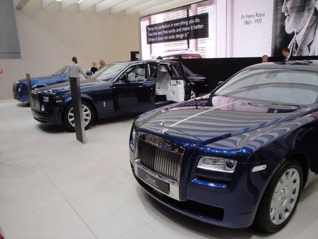 Stoisko Rolls Royce na targach Frankfurt 2011